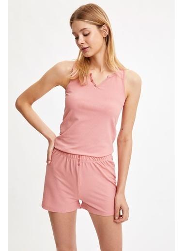 Defacto –Fit Pijama Takım Mor